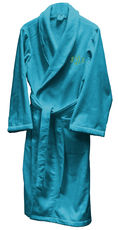 Terry Velour Robe with Shawl Collar