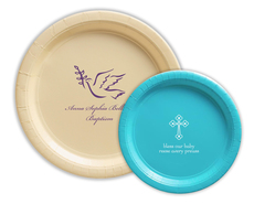 Personalized Paper Plates for Baptisms