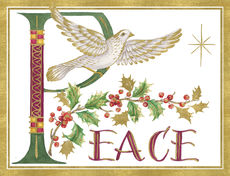 Illuminated Peace Dove Holiday Cards