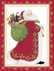 Embossed Santa Holiday Cards