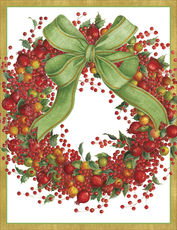 Red Berry Wreath Holiday Cards