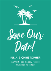 Palm Trees Save the Date Cards