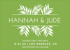 Palms Frame Save the Date Cards