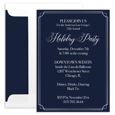Double Foil Border Invitations