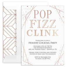 Pop Fizz Clink Foil Invitations
