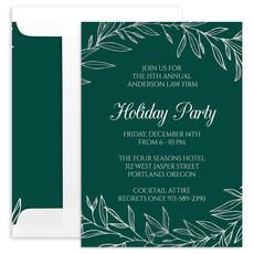 Elegant Foil Wreath Invitations