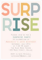 Pink Colorful Surprise Invitations