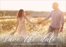 Casual Script Photo Save the Date Announcements