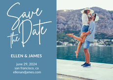 Color Block Photo Save the Date Announcements