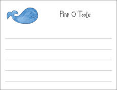 Whale Flat Note Cards