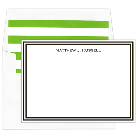 Black Border Flat Note Cards