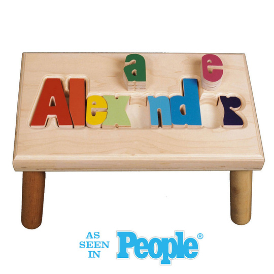 Maple Alexander Puzzle Step Stool