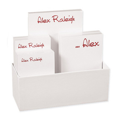 Anthony Notepad Collection in White Holder