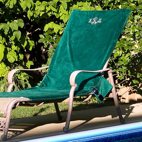 Cotton Terry Velour Lounge Chair Cover