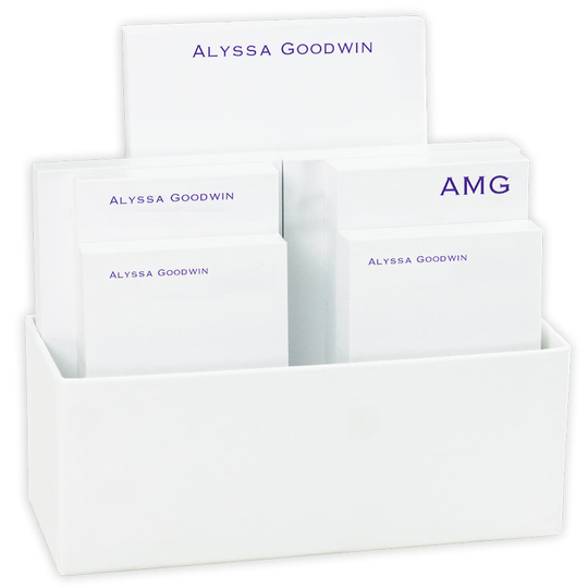 Executive Notepad Collection with White Holder