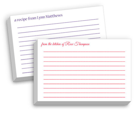 Lined Recipe Cards