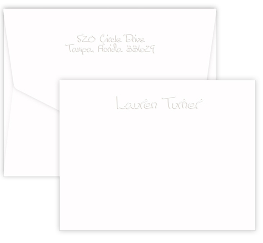 Triple Thick Embossed Paper Sculpture Note Cards