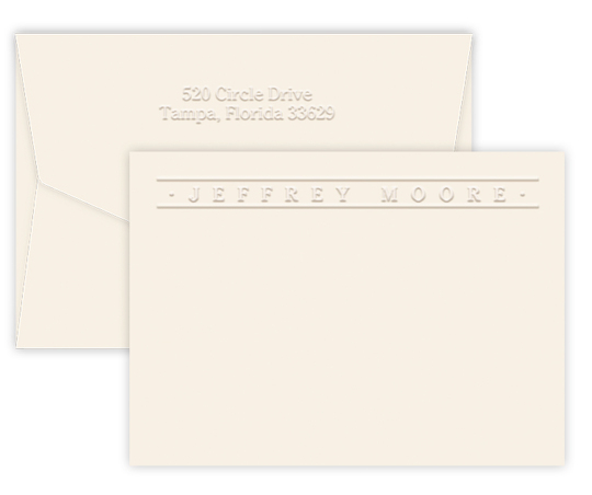 Triple Thick Embossed Banner Cards