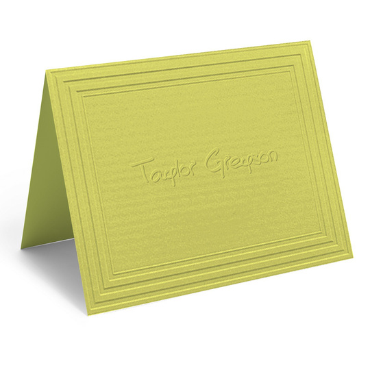 Embossed California Classic Frame Folded Citrus Note Cards