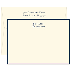 Triple Thick Isaac Bordered Flat Note Cards