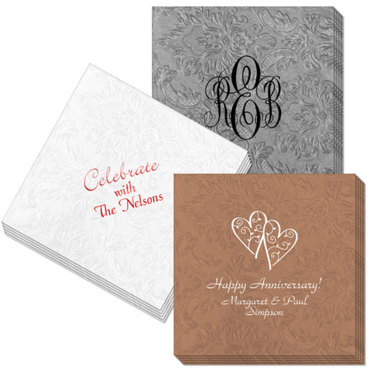 Design Your Own Carte Embossed Napkins
