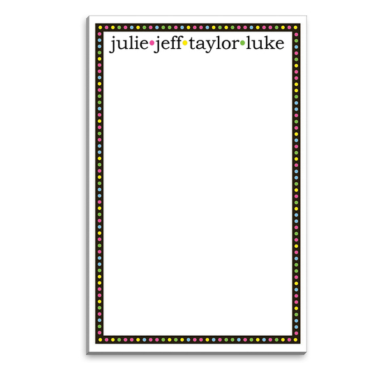 Colorful Black Border Notepads