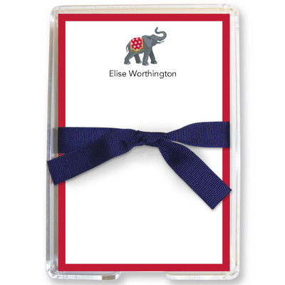 Elephant Holiday Memo Sheets in Holder