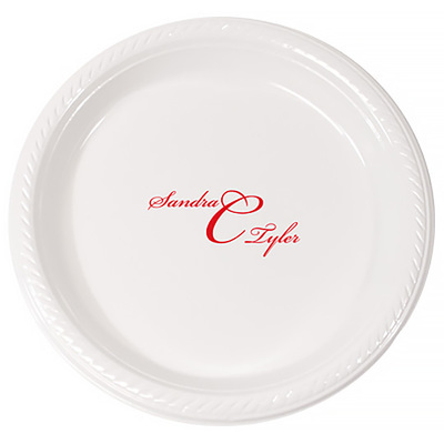 Personalized Monogrammed Plastic Plates