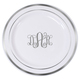 Elegant Monogrammed Premium Plastic Plates with Gold or Silver Edge Image 2 of 3