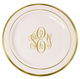 Elegant Monogrammed Premium Plastic Plates with Gold or Silver Edge Image 3 of 3