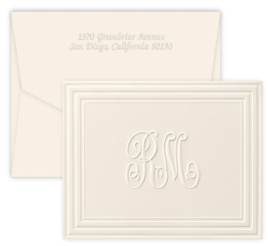 Duet Initials Folded Note Cards