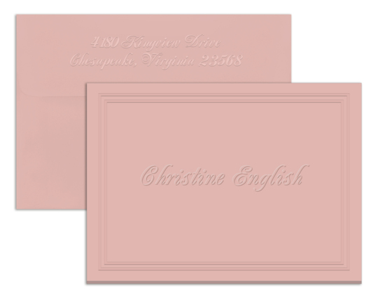 Embossed Panel Foldover Note Cards