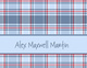 Blue Plaid Folded Note Cards Image 1 of 3