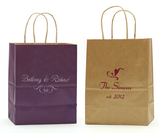 Pick Your Scroll Design on Twisted Handled Bags