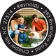 Your Photo on Black Round Address Labels Image 2 of 3