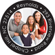 Your Photo on Black Round Address Labels Image 3 of 3