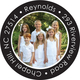Your Photo on Black Round Address Labels Image 1 of 3