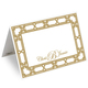 Gold Lattice Printed Place Cards Image 1 of 2