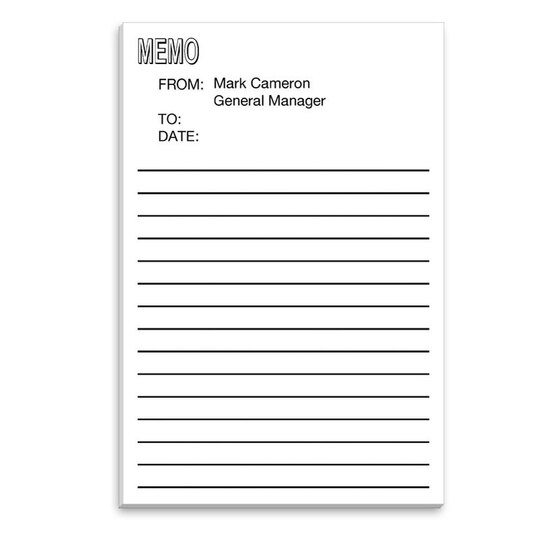 Large Memo Post-it® Notes