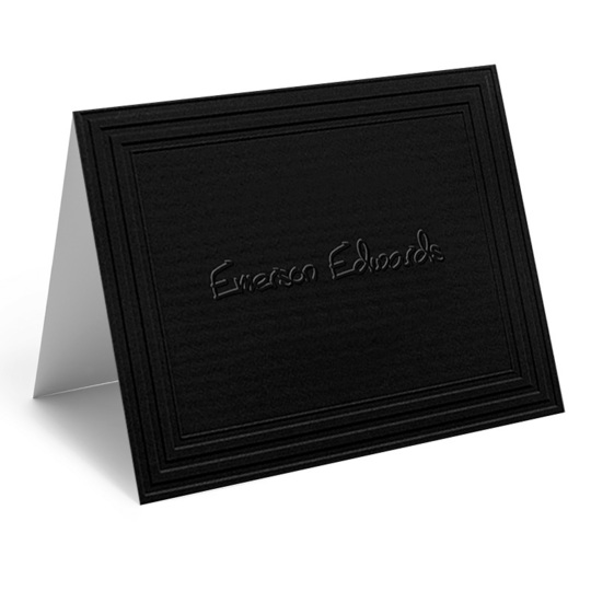 Embossed California Classic Frame Folded Black Note Cards