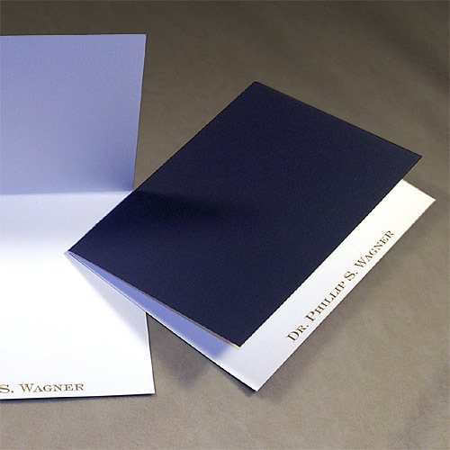 Mediterranean Navy Folded Note Cards