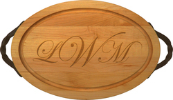 Maple 18 inch Oval Personalized Cutting Board