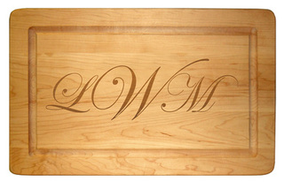 Maple 16 inch Rectangle Your Text Cutting Board