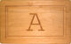 Maple 13 inch Rectangle Personalized Cutting Board Image 1 of 2