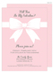 Sweet Pink Baby Shower Bow Invitations Image 1 of 3