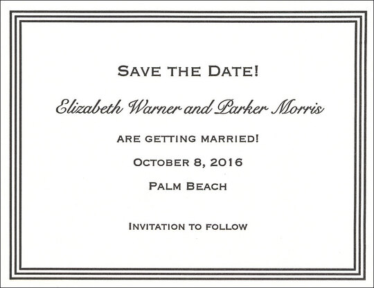 Grand Border Letterpress Save the Date Cards