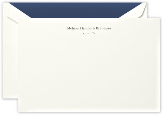Correspondence Flat Note Cards with Flourish Motif