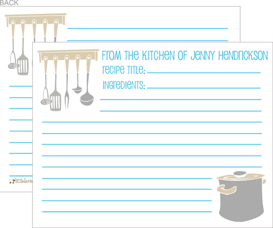 Pots and Pans Recipe Cards