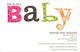 Pink Colorful Wordplay Baby Shower Invitations Image 2 of 2
