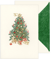 Christmas Tree Holiday Cards with Inside Imprint